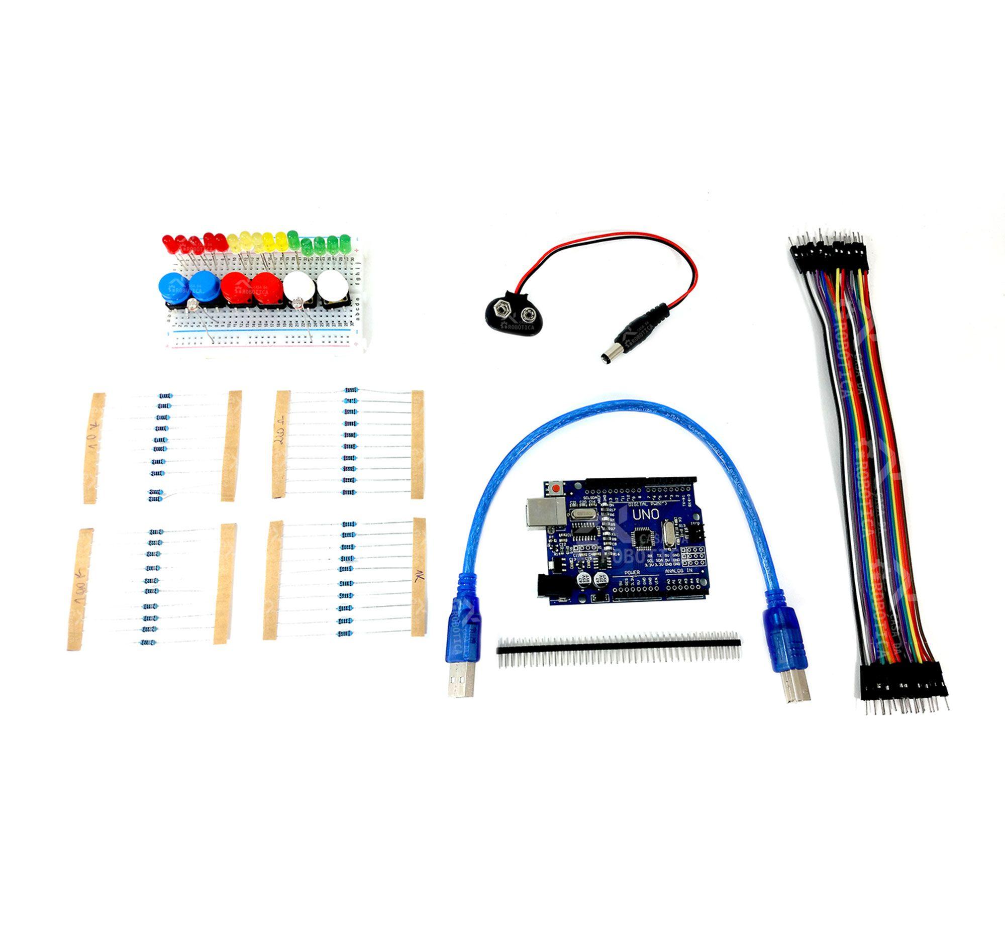 Kit Uno SMD R3 para Iniciantes em Arduino