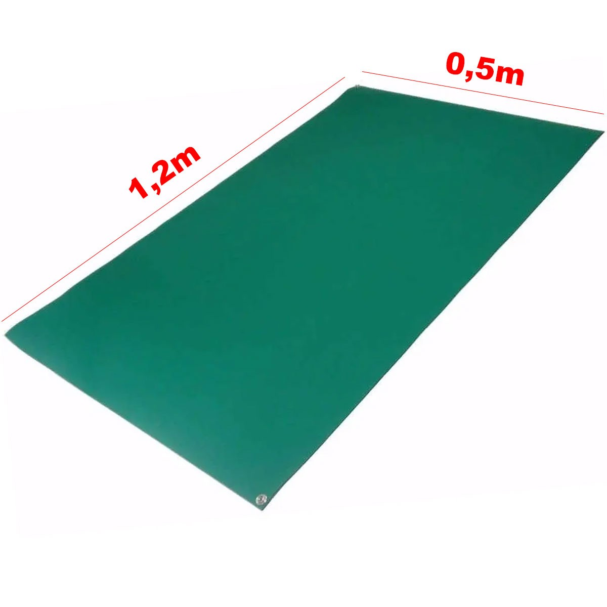 Manta Antiestática de Bancada - Hikari 1,20x0,50m Cor Verde