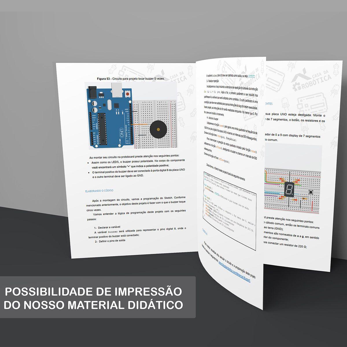 Mega Kit Robótica Para Arduino Mega e+ 200 pcs com Tutorial