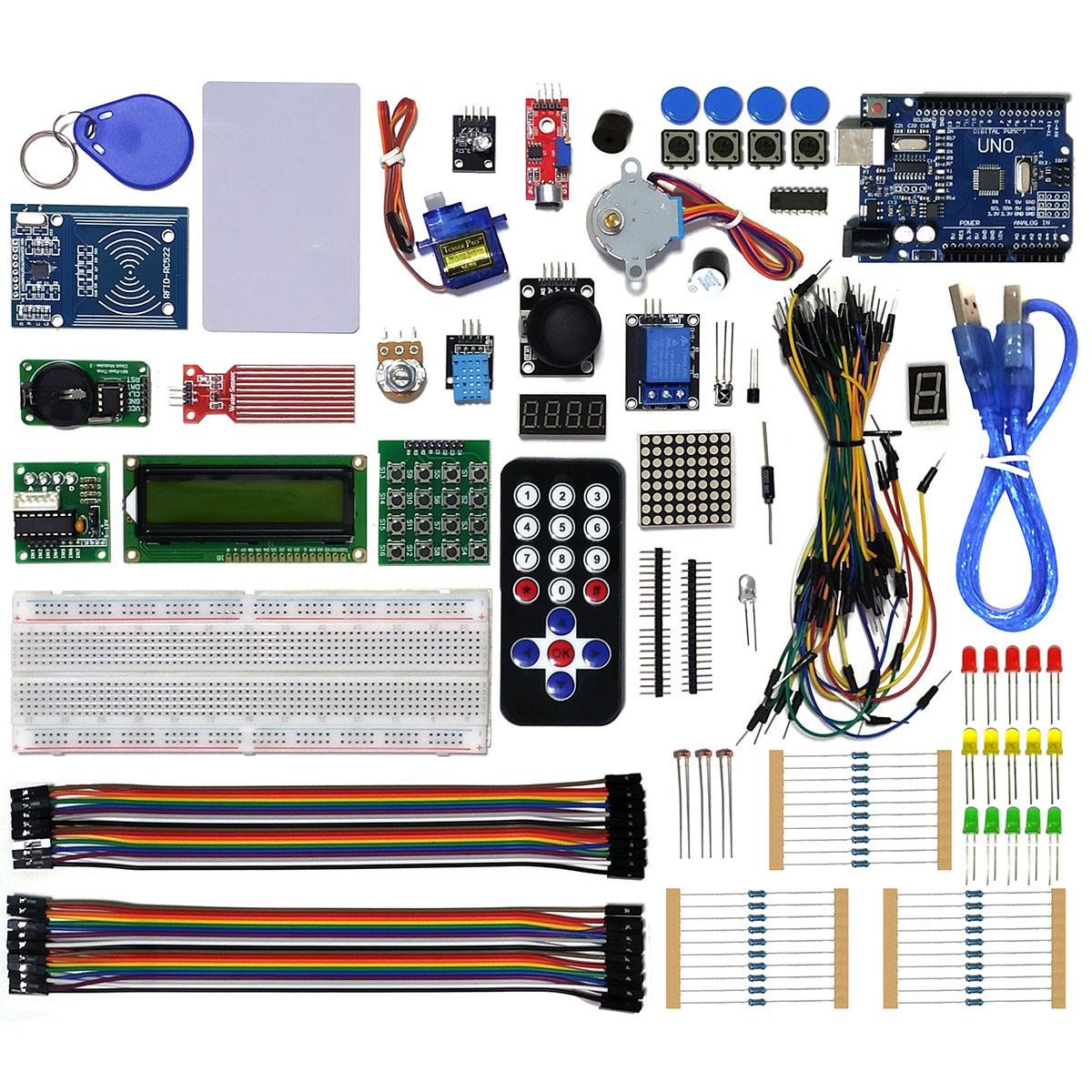 Mega Kit Robótica Para Arduino Uno e + 200 pcs com Tutorial
