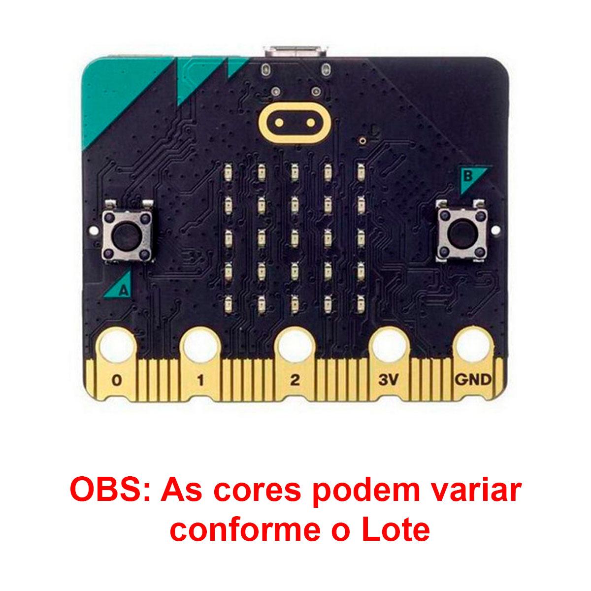 Micro:bit Microbit Go V2 Kit Placa de Desenvolvimento e Acessórios