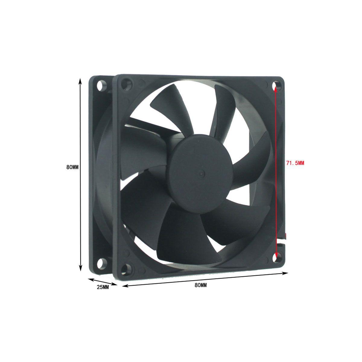 Micro Ventilador / Cooler / Ventoinha 80x80x25mm 24v Chocadeira