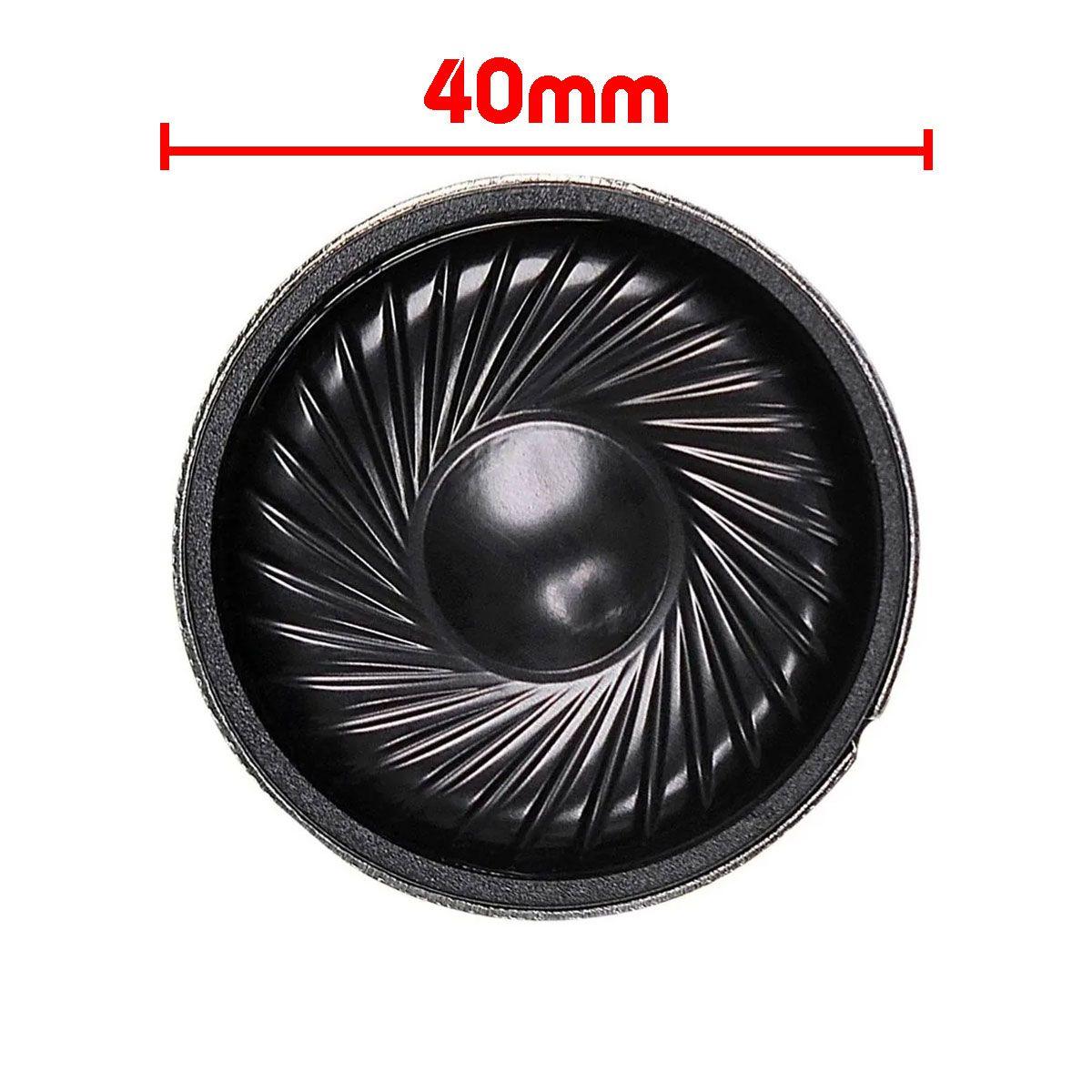 Mini Alto falante Passivo 0.5W 8 Ohms 40mm