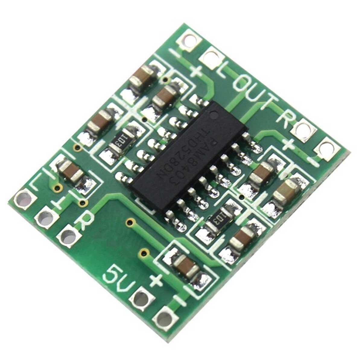 Mini Amplificador de Som PAM8403 Estéreo 2 Canais 3W cada