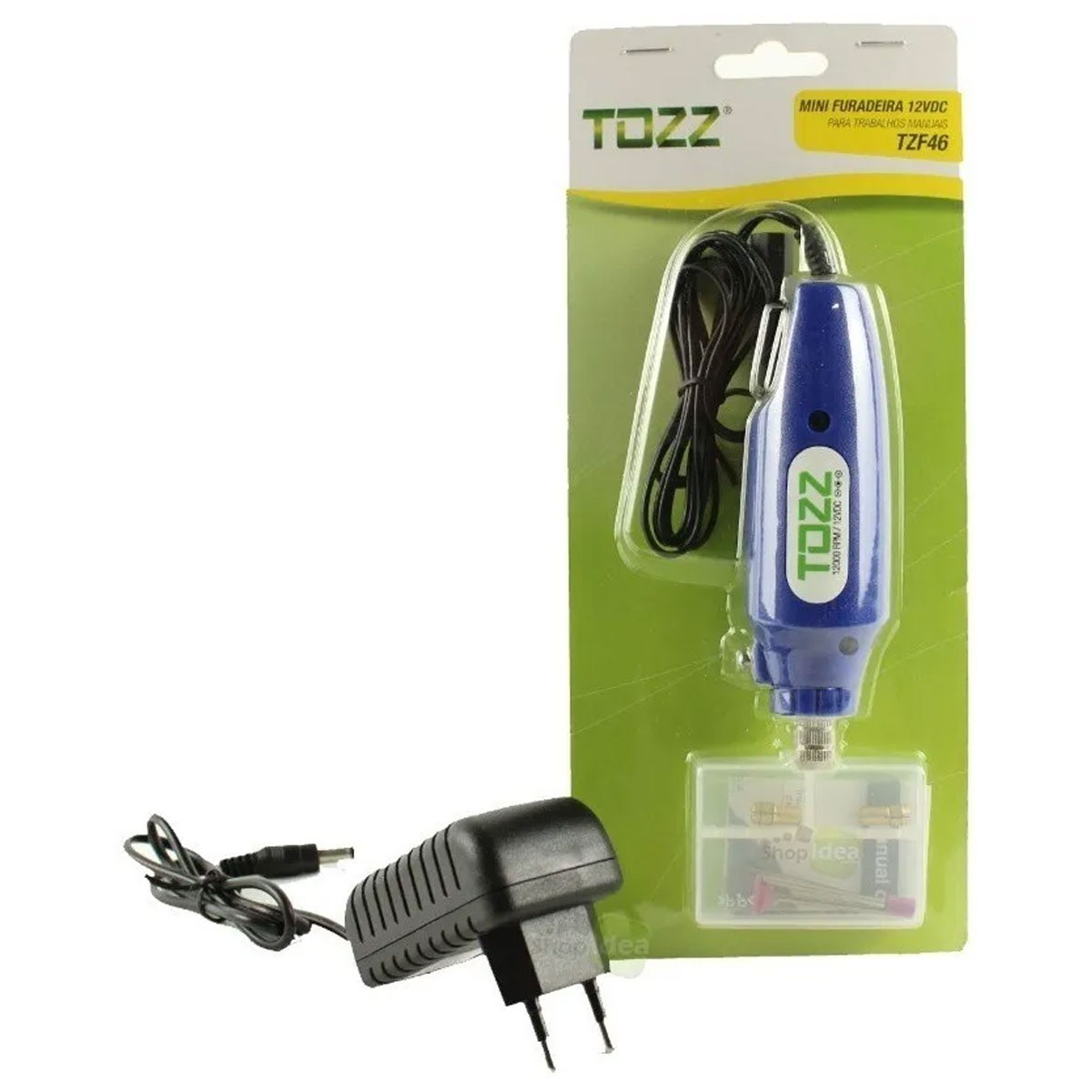 Mini Furadeira Drill Retifica com Acessórios para Artesanato, furar Placa de Circuito Impresso + Fonte