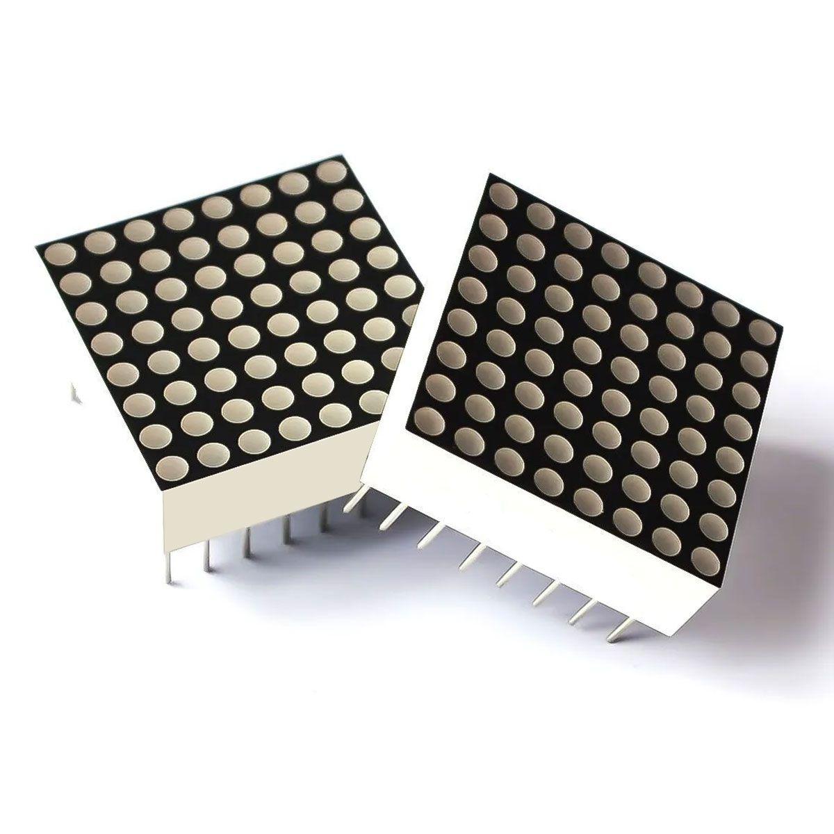 Mini Matriz de LED 8x8 20mm x 20mm - Cor Vermelha - Catodo Comum