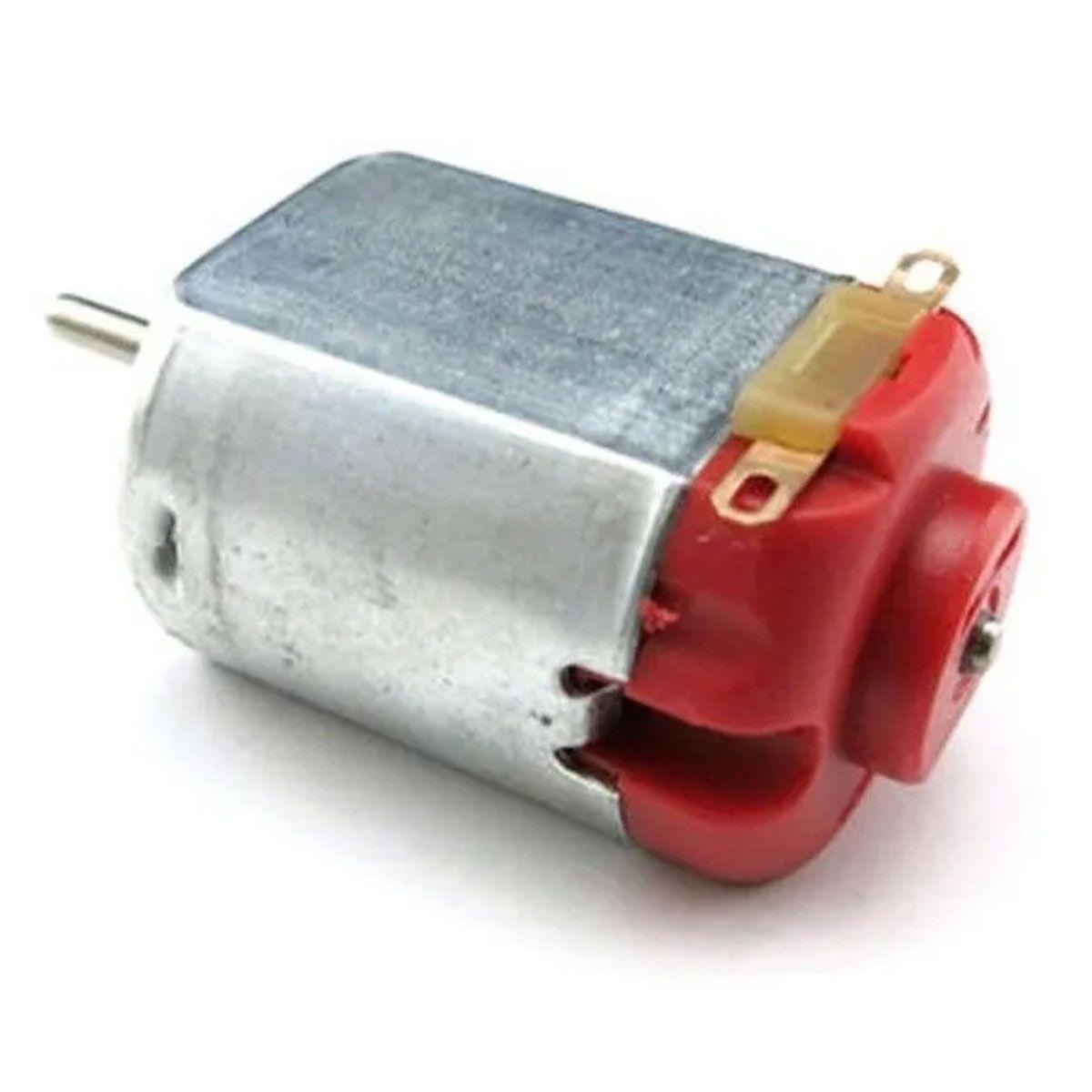 Mini Motor DC 3v a 6v sem Redução - Vermelho