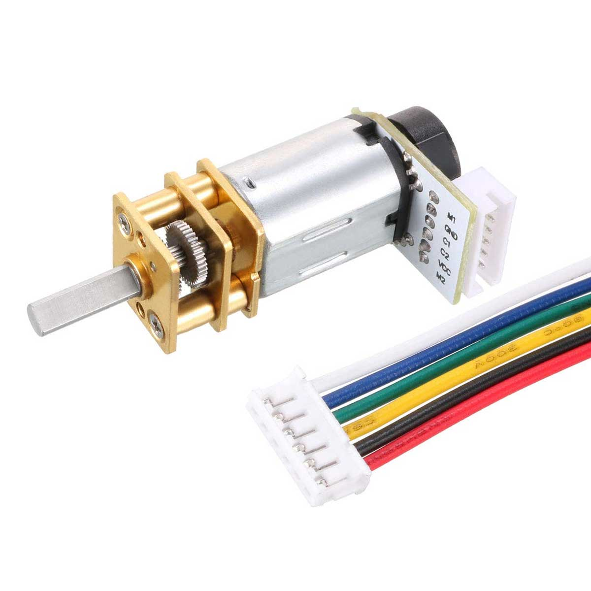 Mini Motor DC N20 com Caixa de Redução e Encoder - 12v 30 RPM