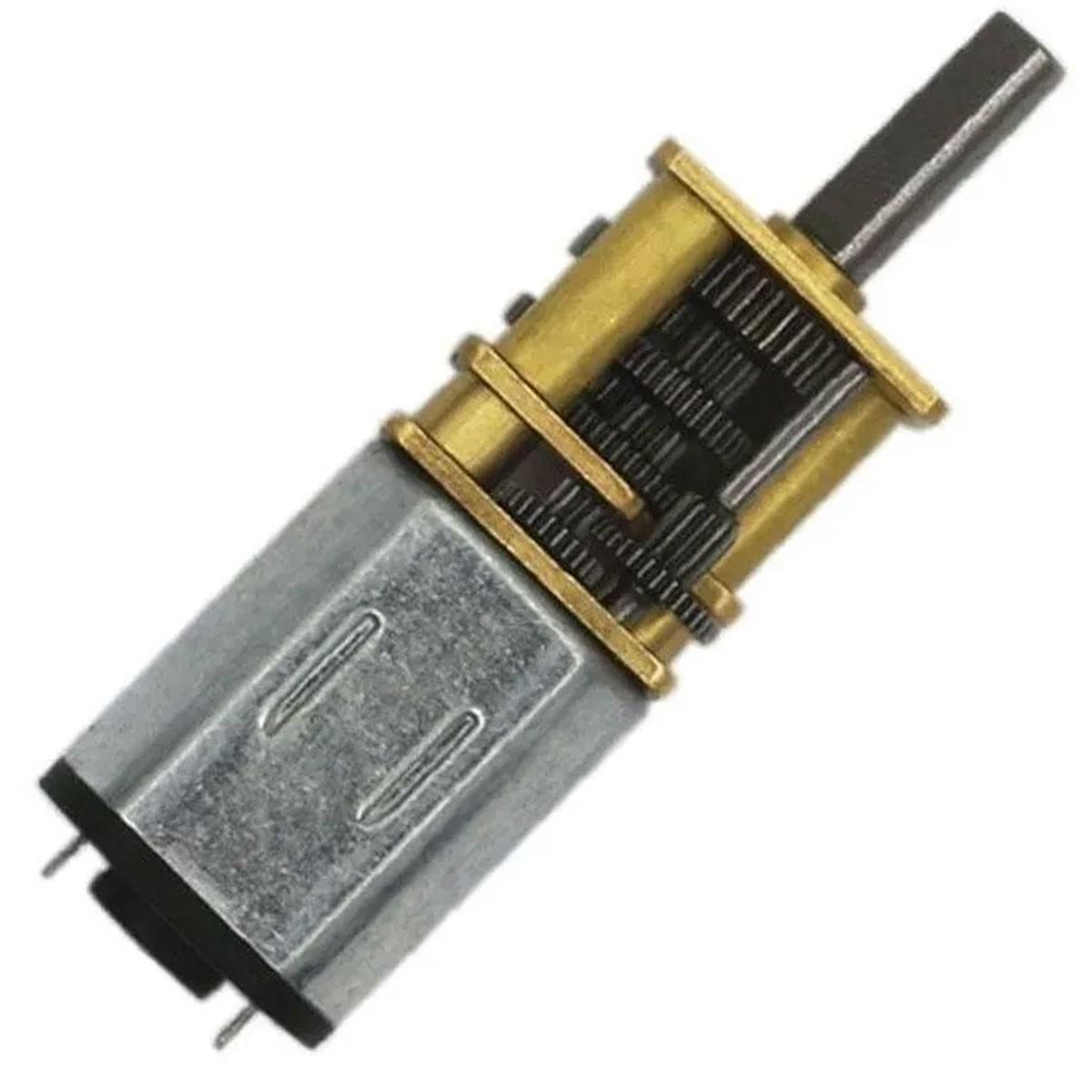 Mini Motor N20 6v 3000 RPM com Caixa de Redução de Metal