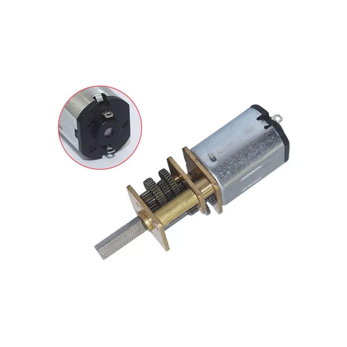 Mini Motor N20 6v 500 RPM Caixa de Redução de Metal