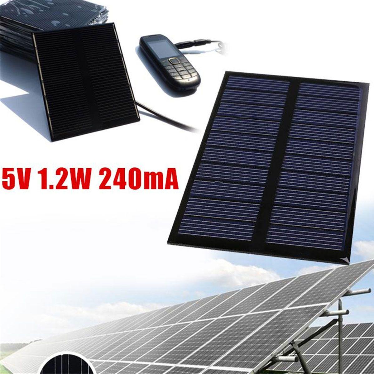 Mini Painel / Placa / Célula de Energia Solar Fotovoltaica 5V 240mA 1.2W