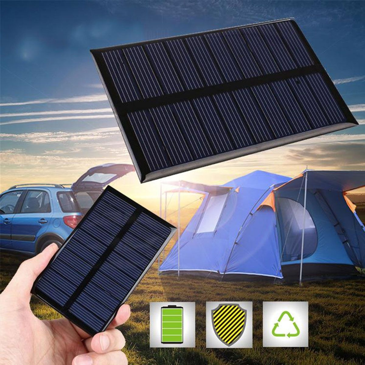 Mini Painel / Placa / Célula de Energia Solar Fotovoltaica 12v 0.125mA 1.5w