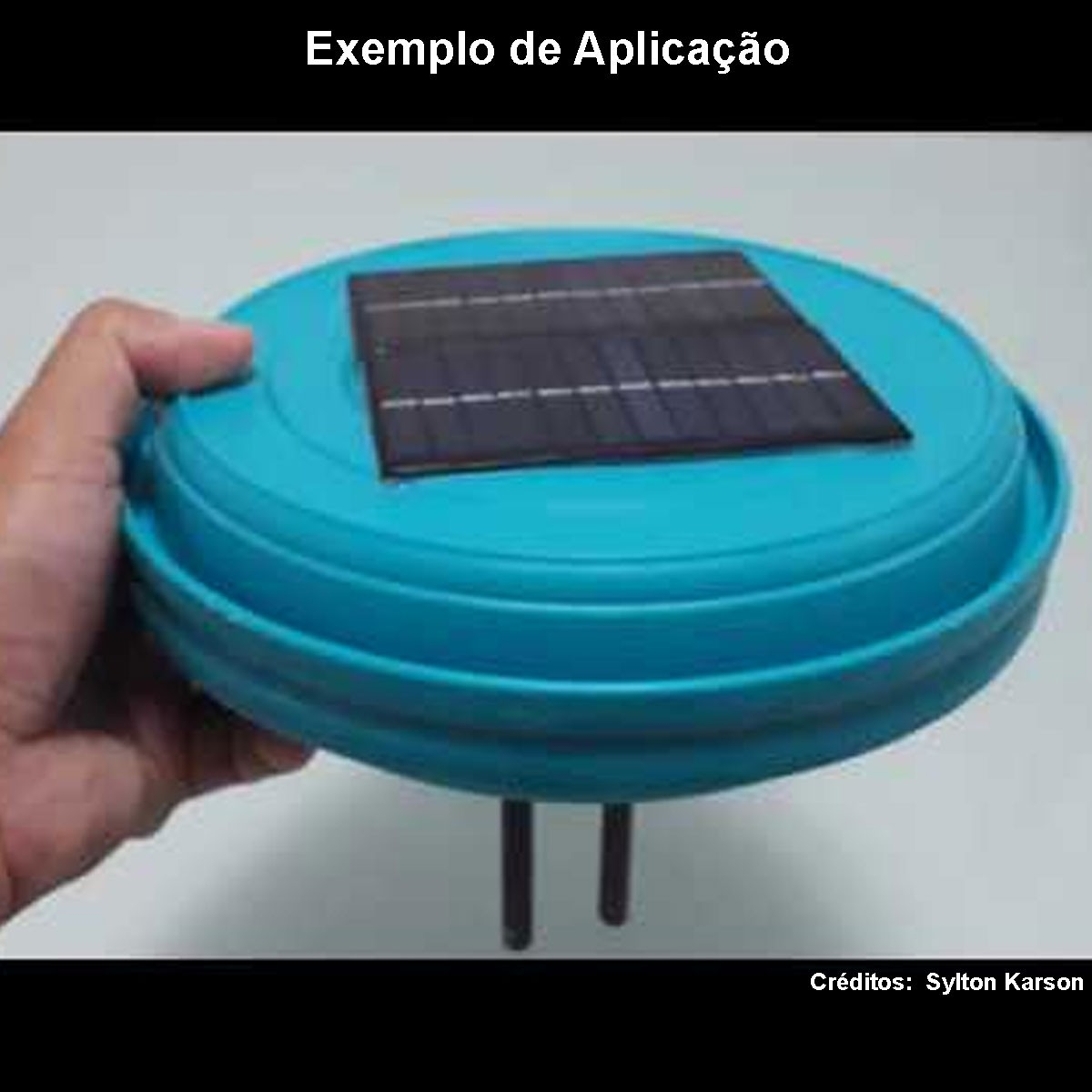 Mini Placa Solar 12v 1.5w com Cabos Soldados p/ Ionizador de Piscina