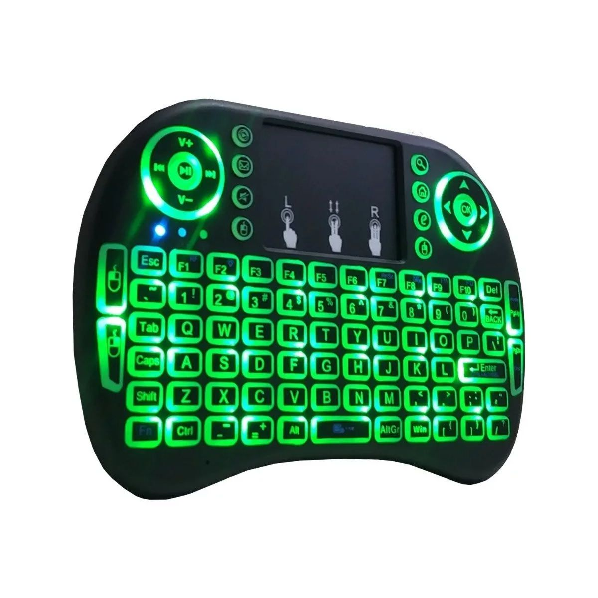 Mini Teclado Touch Pad Keyboard Wireless Led RGB para Raspberry, PC, TV