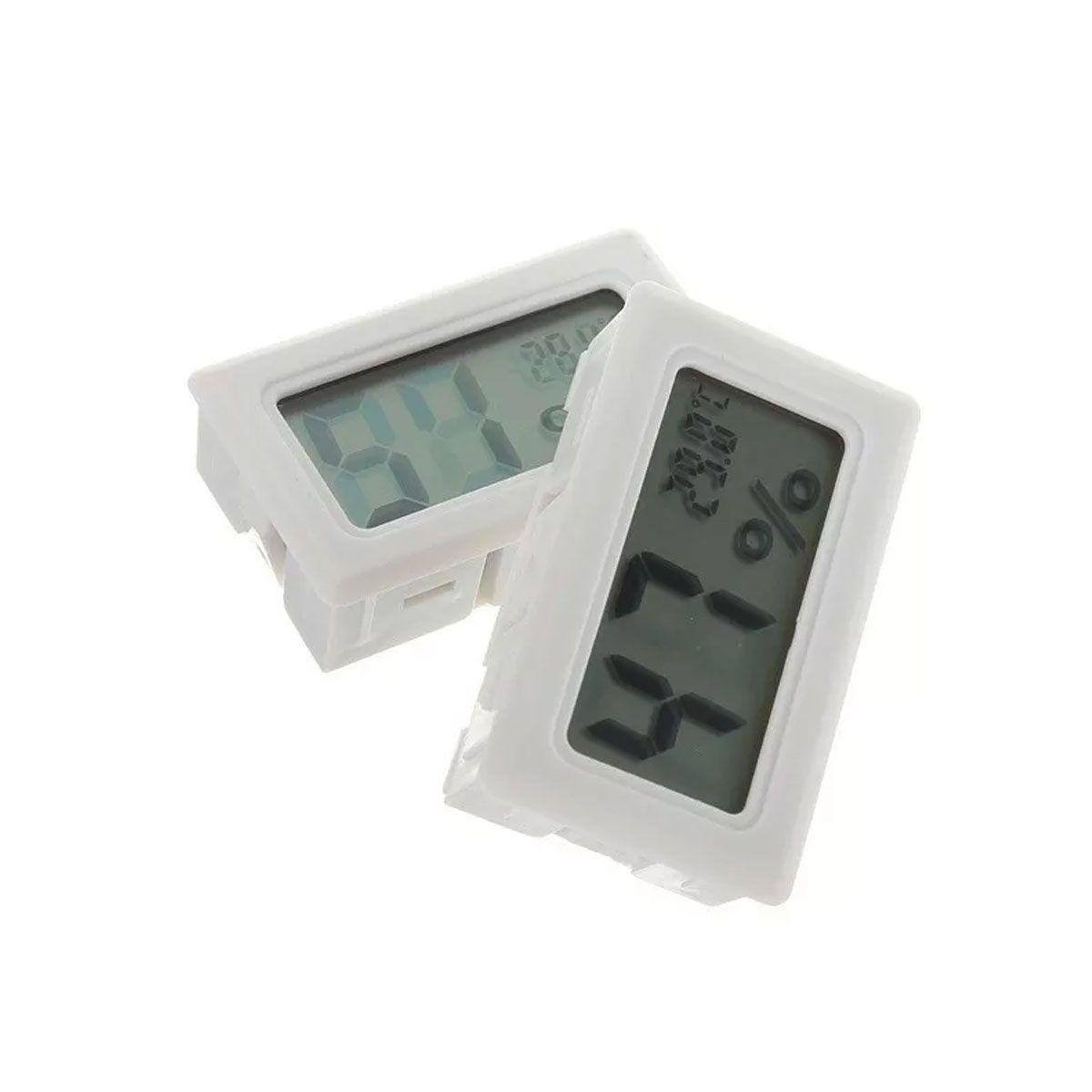 Mini Termômetro - Higrômetro Digital / Mede Temperatura e Umidade SEM Bateria - Branca