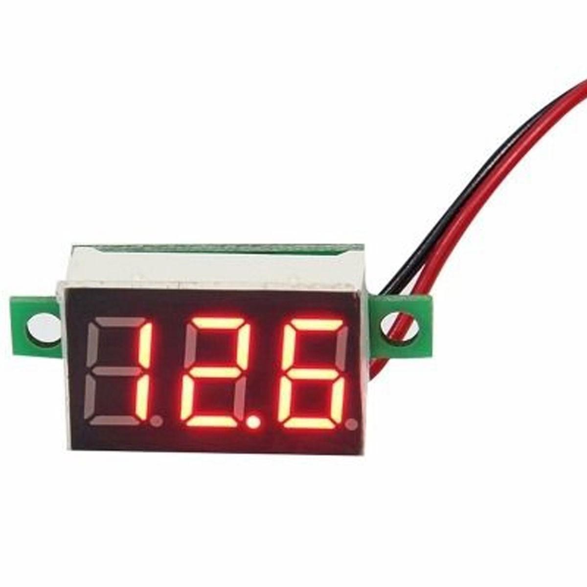 Mini Voltímetro Digital 4.5 a 30v | Display Vermelho