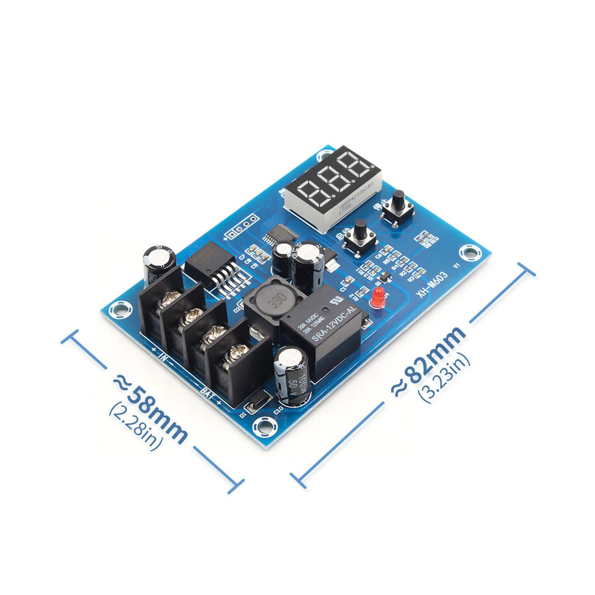 Módulo de Controle de Carga para Bateria 12V a 24V - XH-M603