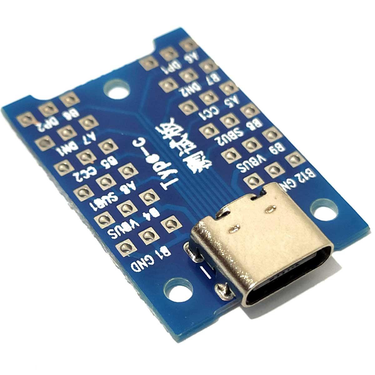 Módulo Extensor Pinos USB Tipo C