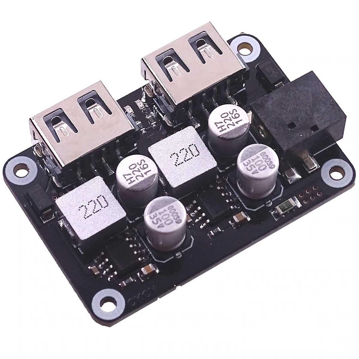 Módulo Gerenciamento Placa Solar p/ carregamento rápido de Celular com 2 Saída USB 5V 2.4A