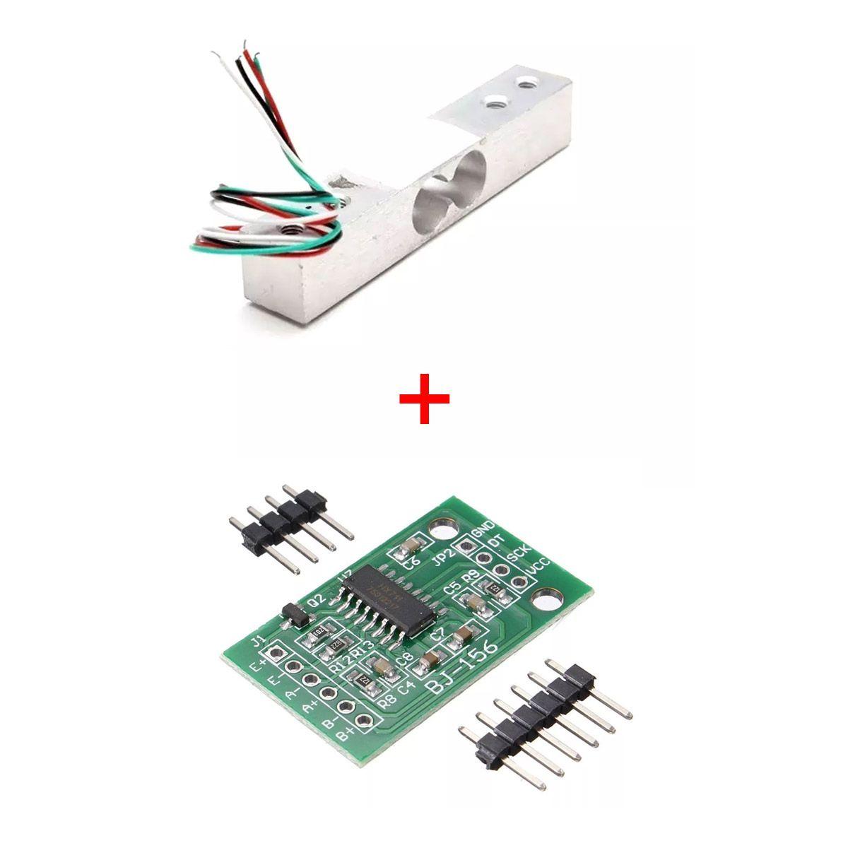 Modulo Hx711 ADC 24 Bits Célula de Carga/Peso +  Celula De Carga 5kg Sensor de Peso Arduino