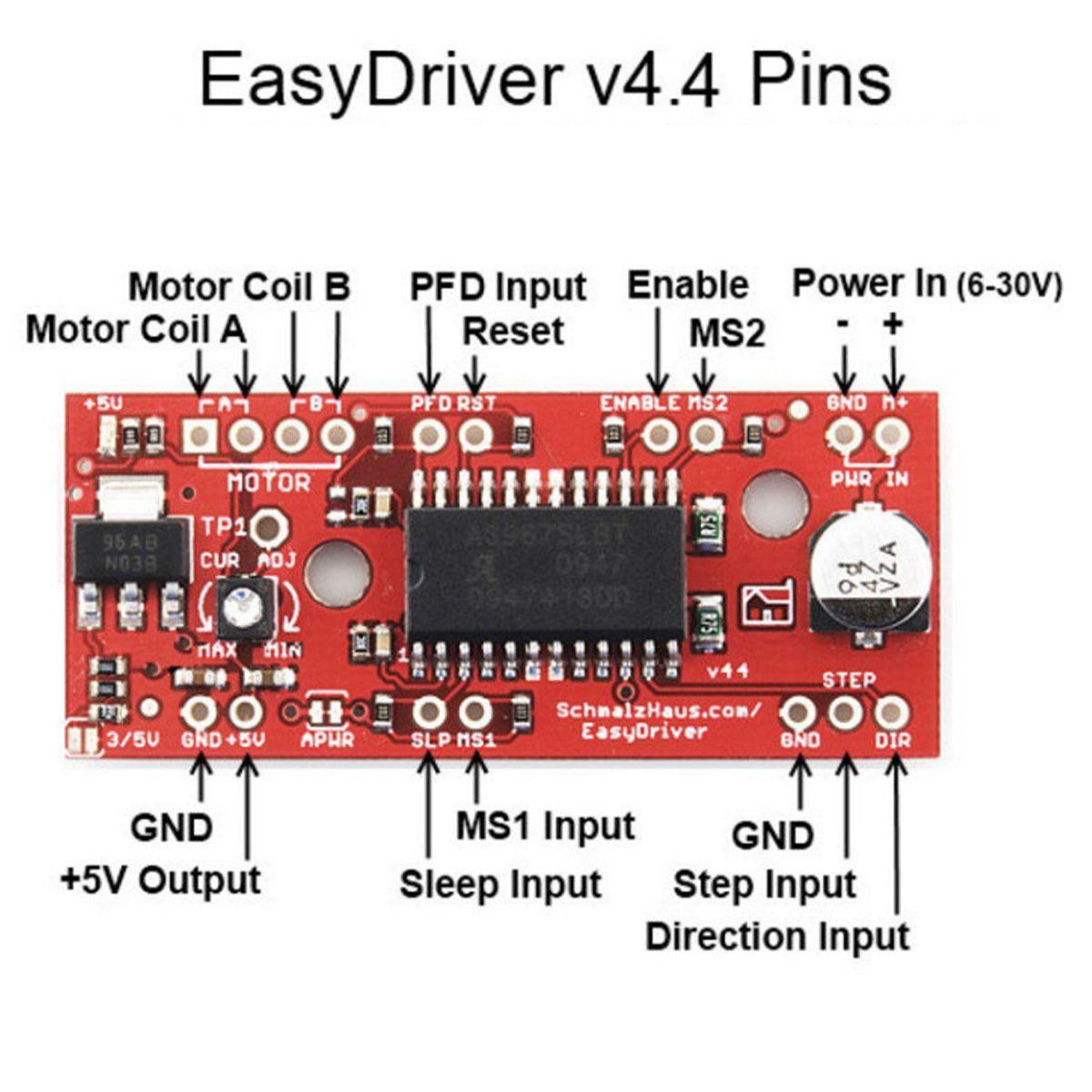 Módulo Motor de Passo EasyDriver V44 A3967