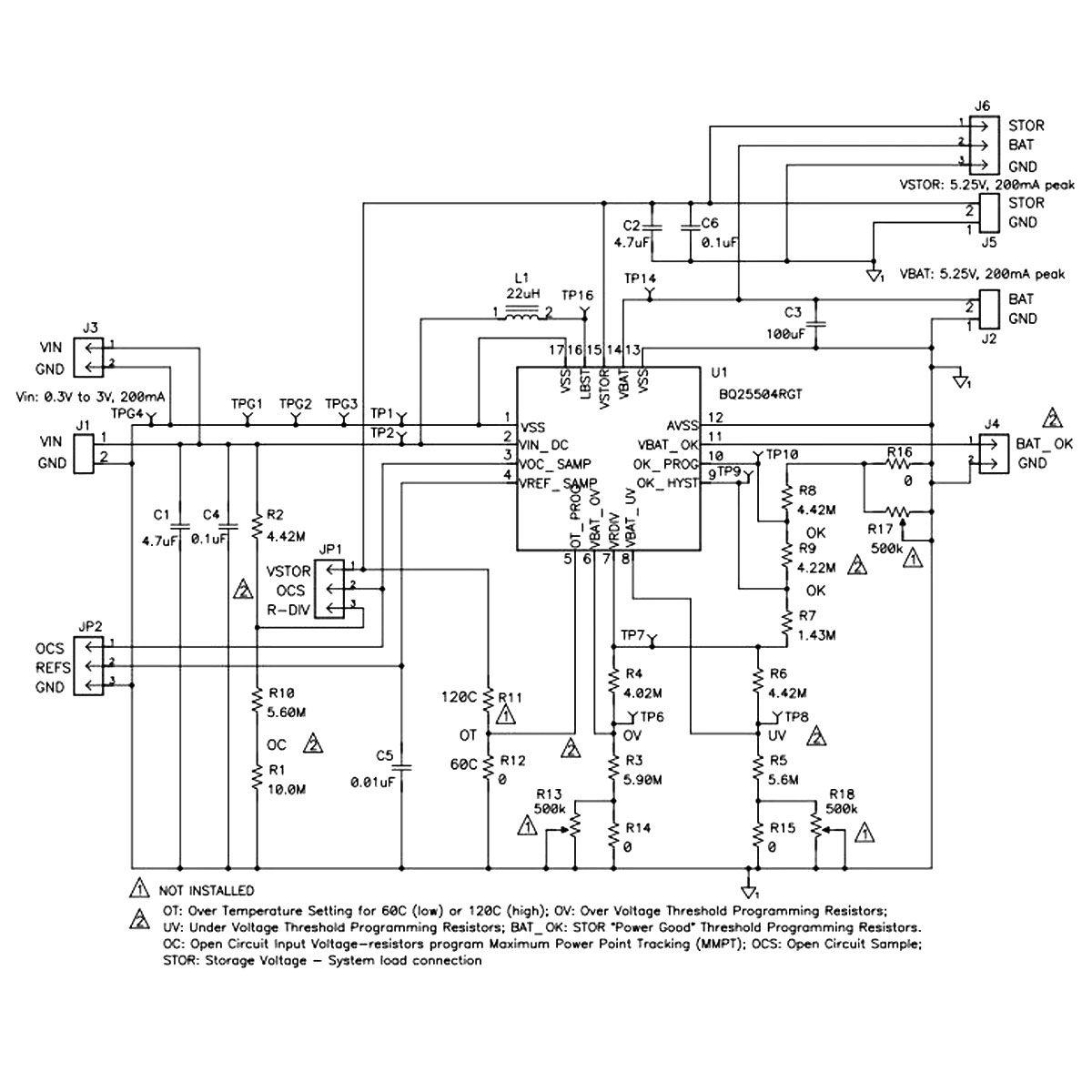 Módulo para Colheita de Baixa Energia Piezoeletricidade - BQ25504