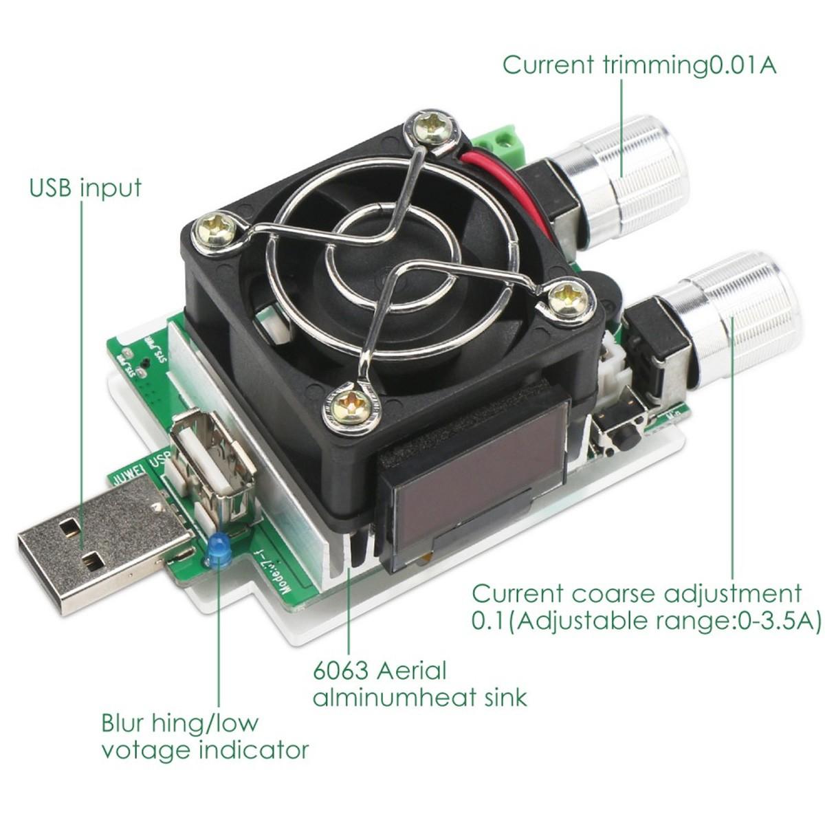 Módulo para teste de carga de baterias ajustável 35w
