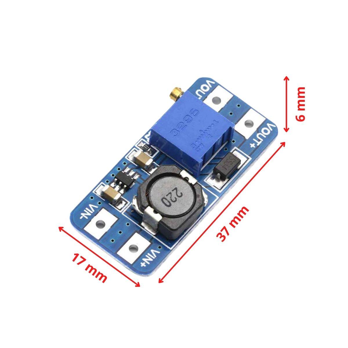 Módulo Regulador de Tensão Ajustável MT3608 Step Up - 2,5V a 28V