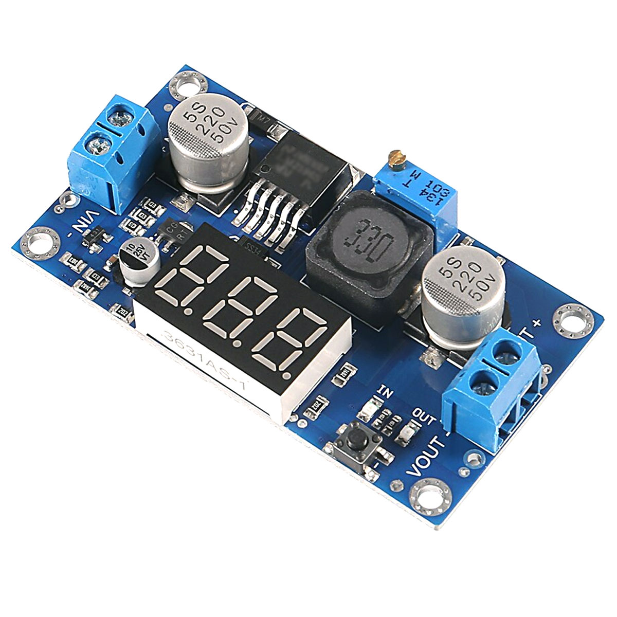 Módulo Regulador de Tensão Step Up XL6009 com Display Voltímetro