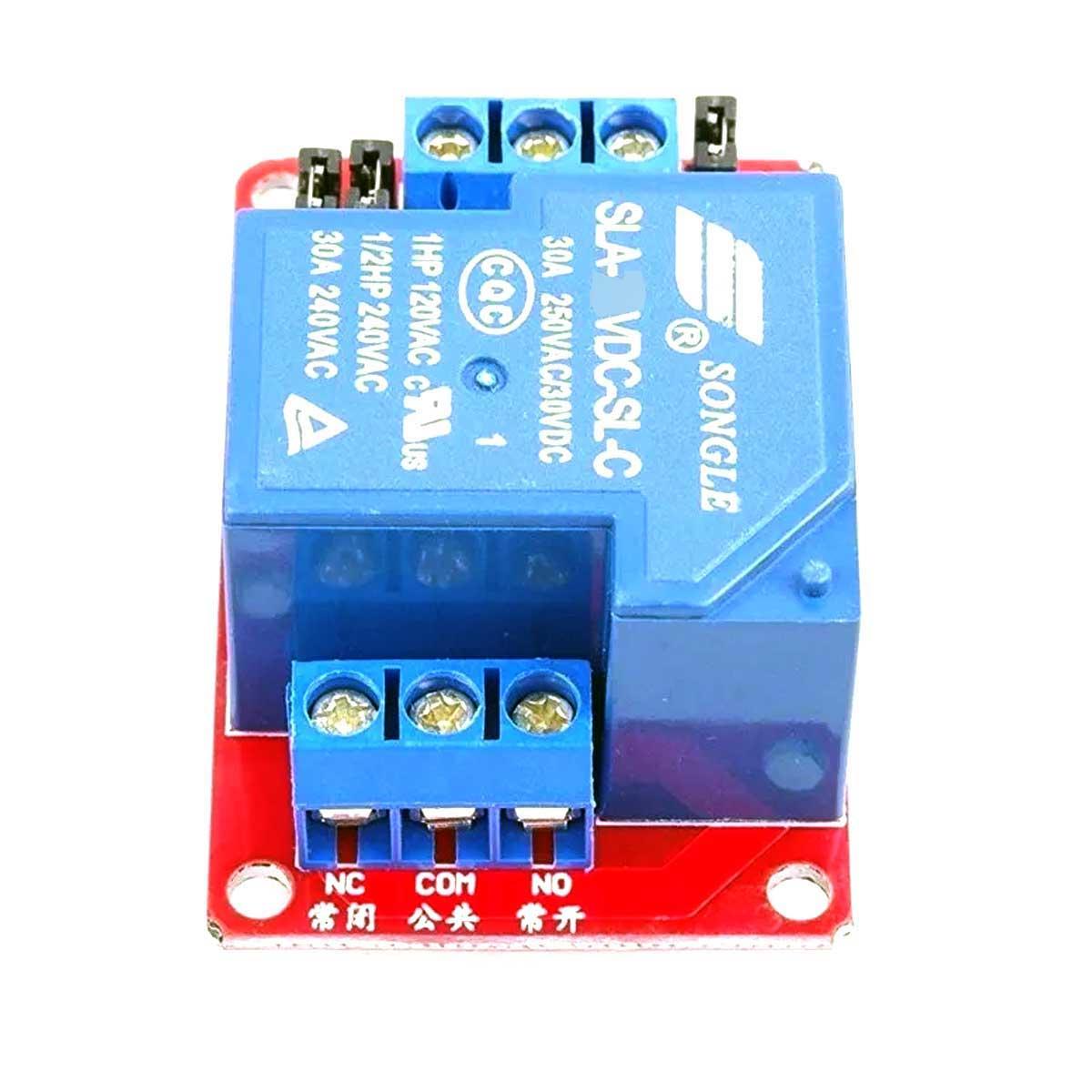 Módulo Relé SLA-12VDC-SL-C 12V 30A 1 Canal com Optoacoplador