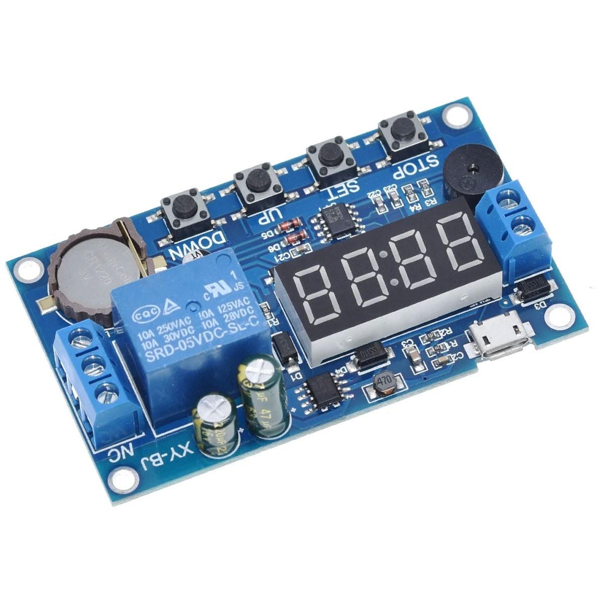 Módulo Relé Timer Temporizador Ajustável com Hora e 5 Programações