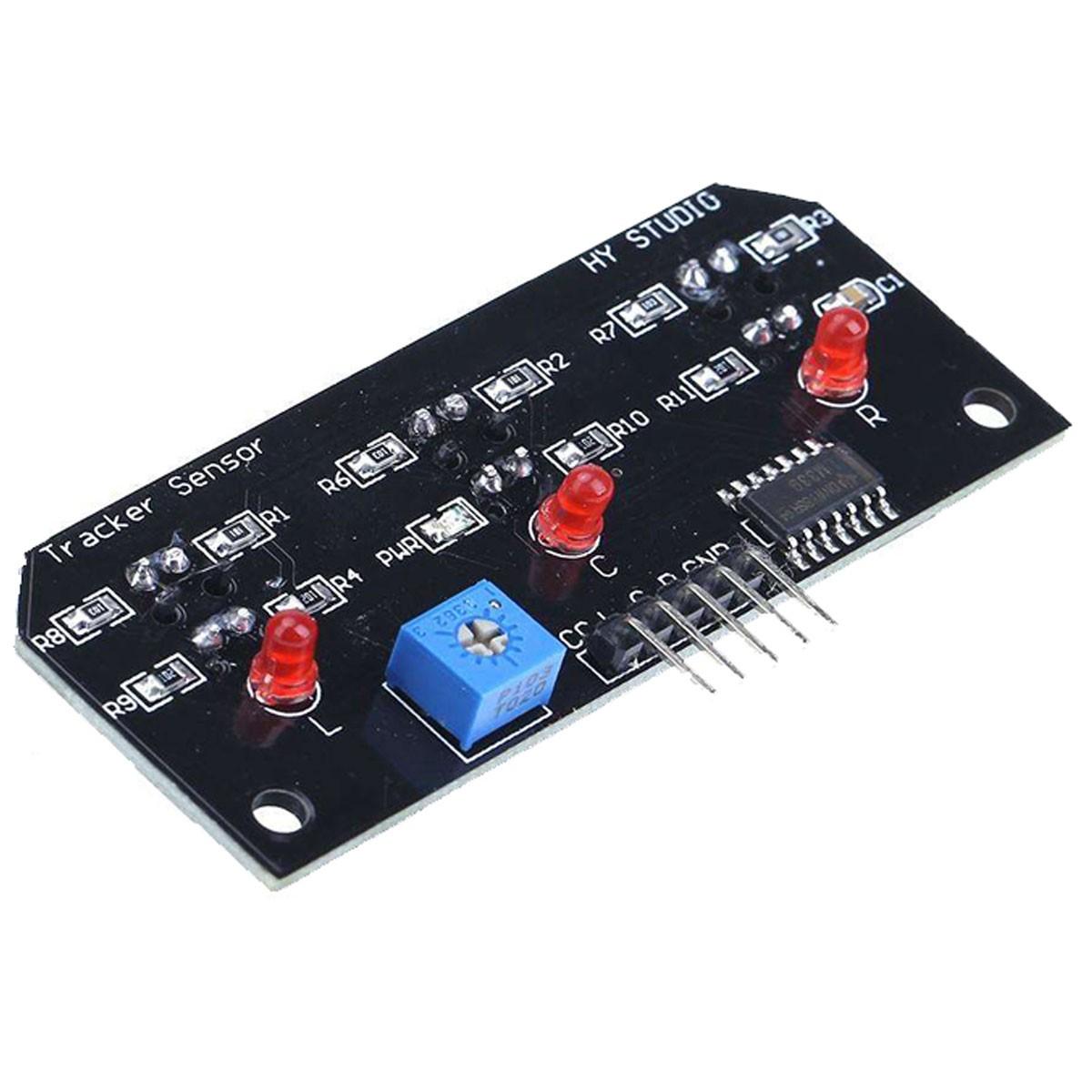 Módulo Seguidor de Linha Infravermelho com Sensor TCRT5000 - 3 Canais