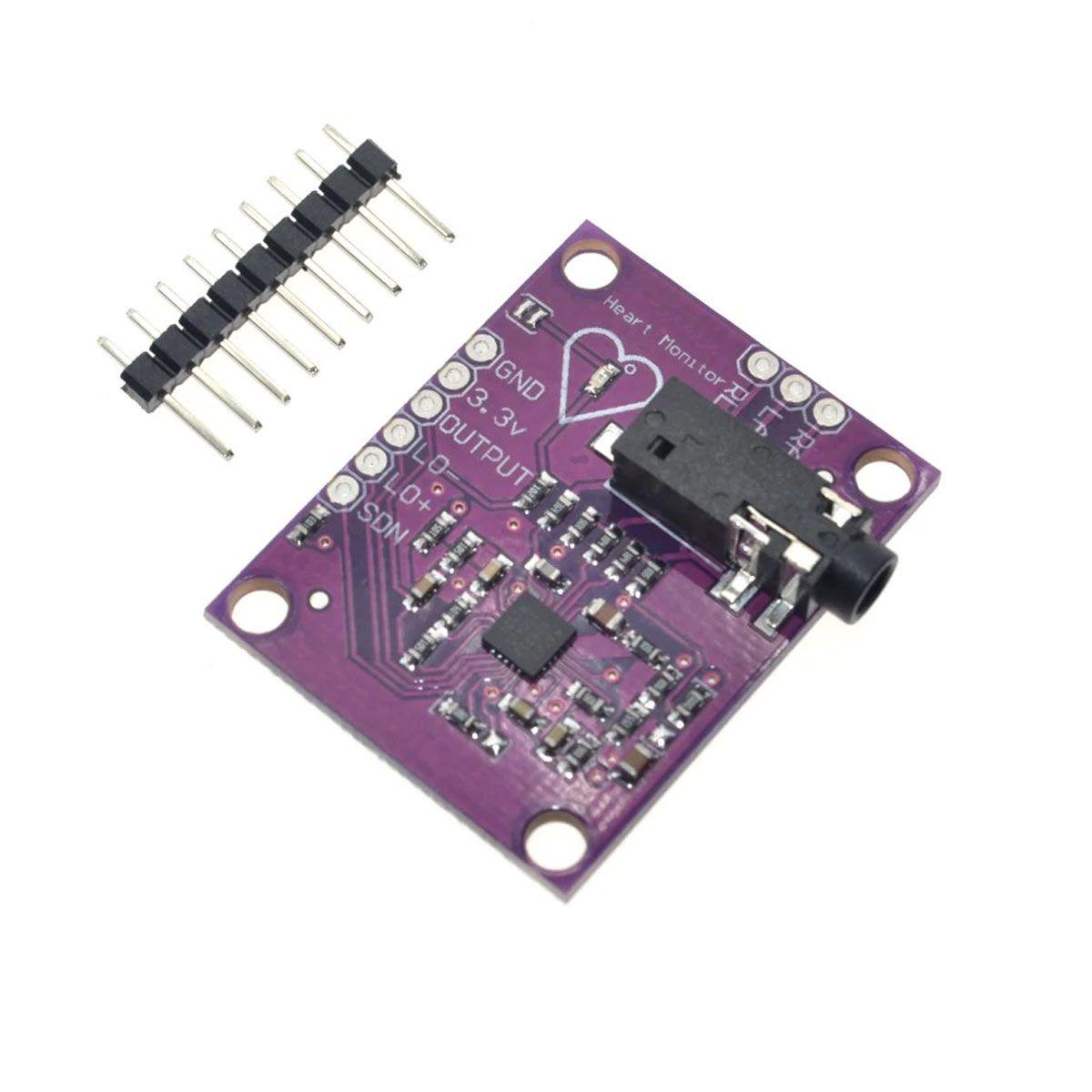 Módulo Sensor De Monitorização Cardíaca - Coração - AD8232