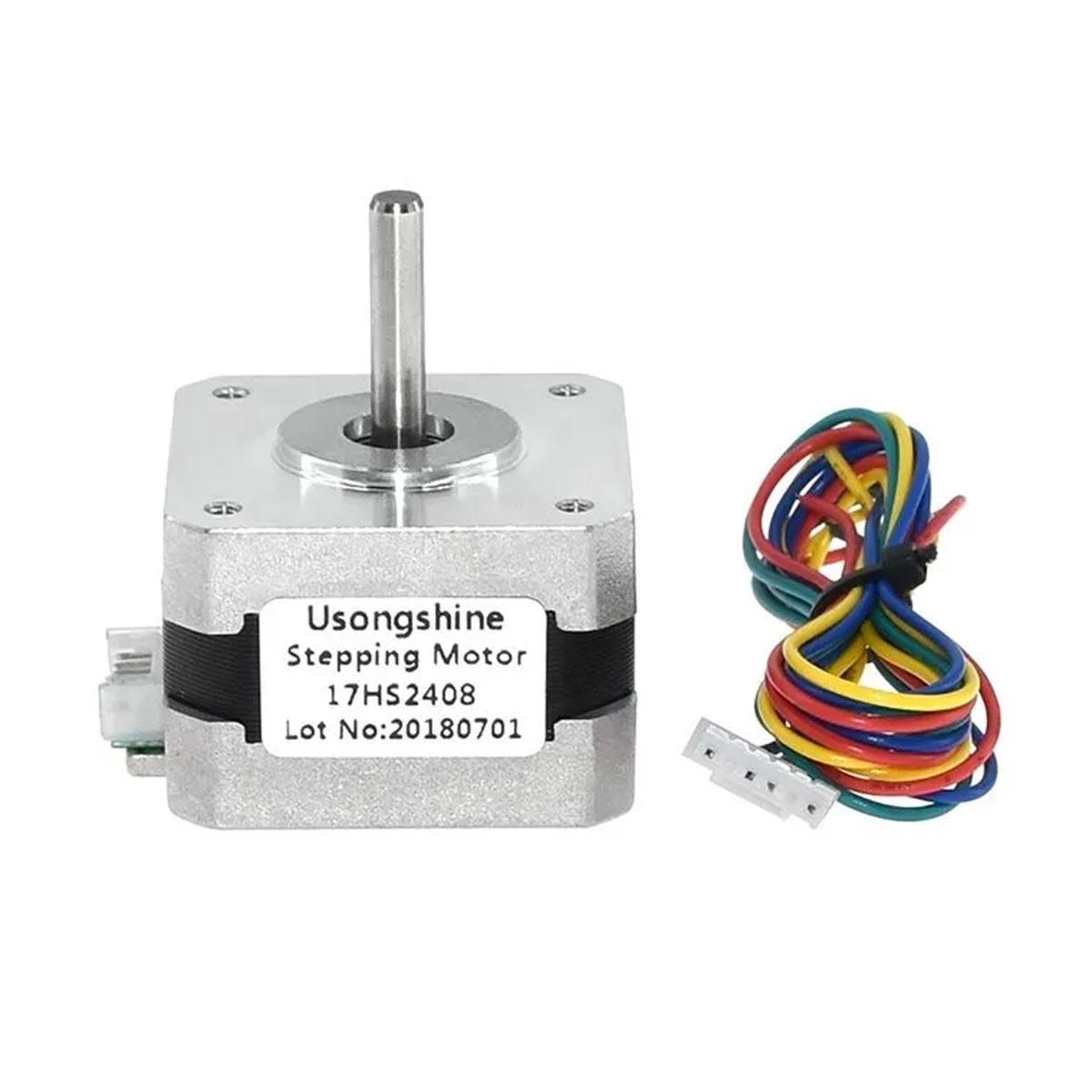 Motor de Passo Nema 17 1,2 kgf.cm 17hs2408 Impressora 3D, CNC