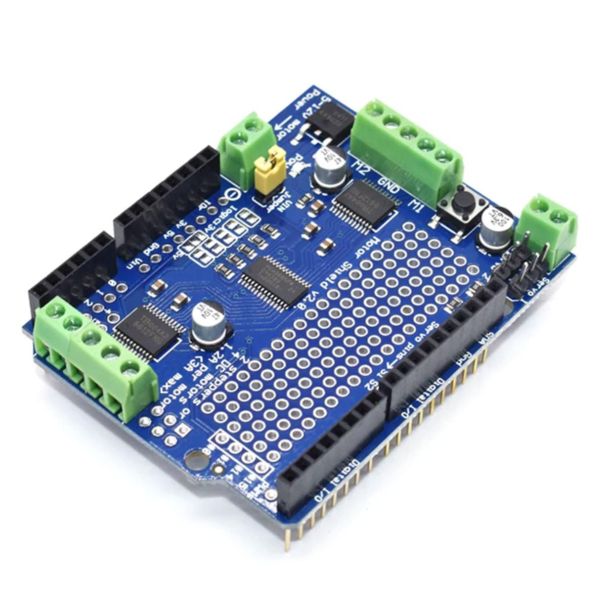 Motor Shield v2 TB6612 ponte H dupla com I2c para Arduino
