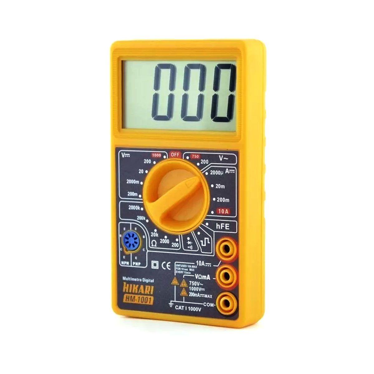 Multímetro Digital Hikari Hm 1001 / HM1001 com LCD e Beep;