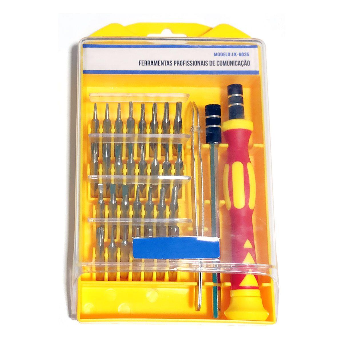 Multímetro Digital Hikari HM 1001 + Kit de Chaves 33 em 1
