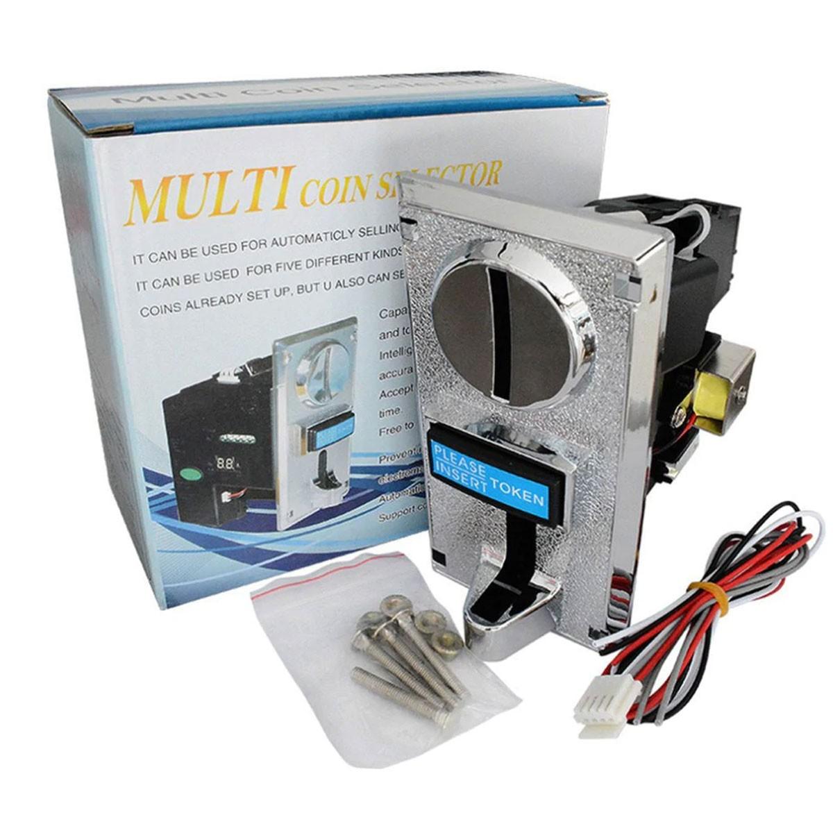 Moedeiro Eletrônico Comparador Multi Moedas p/ Fliiperama, jukebox, Vending Machiines MEC26