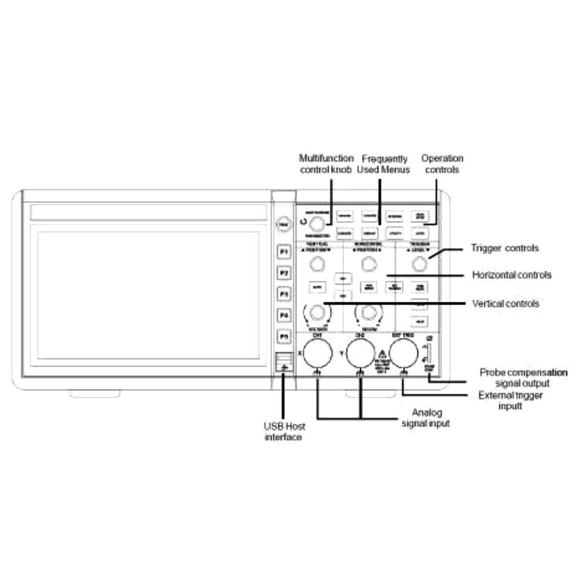 Osciloscópio Digital 2 Canais Profissional Minipa - MVB-DSO