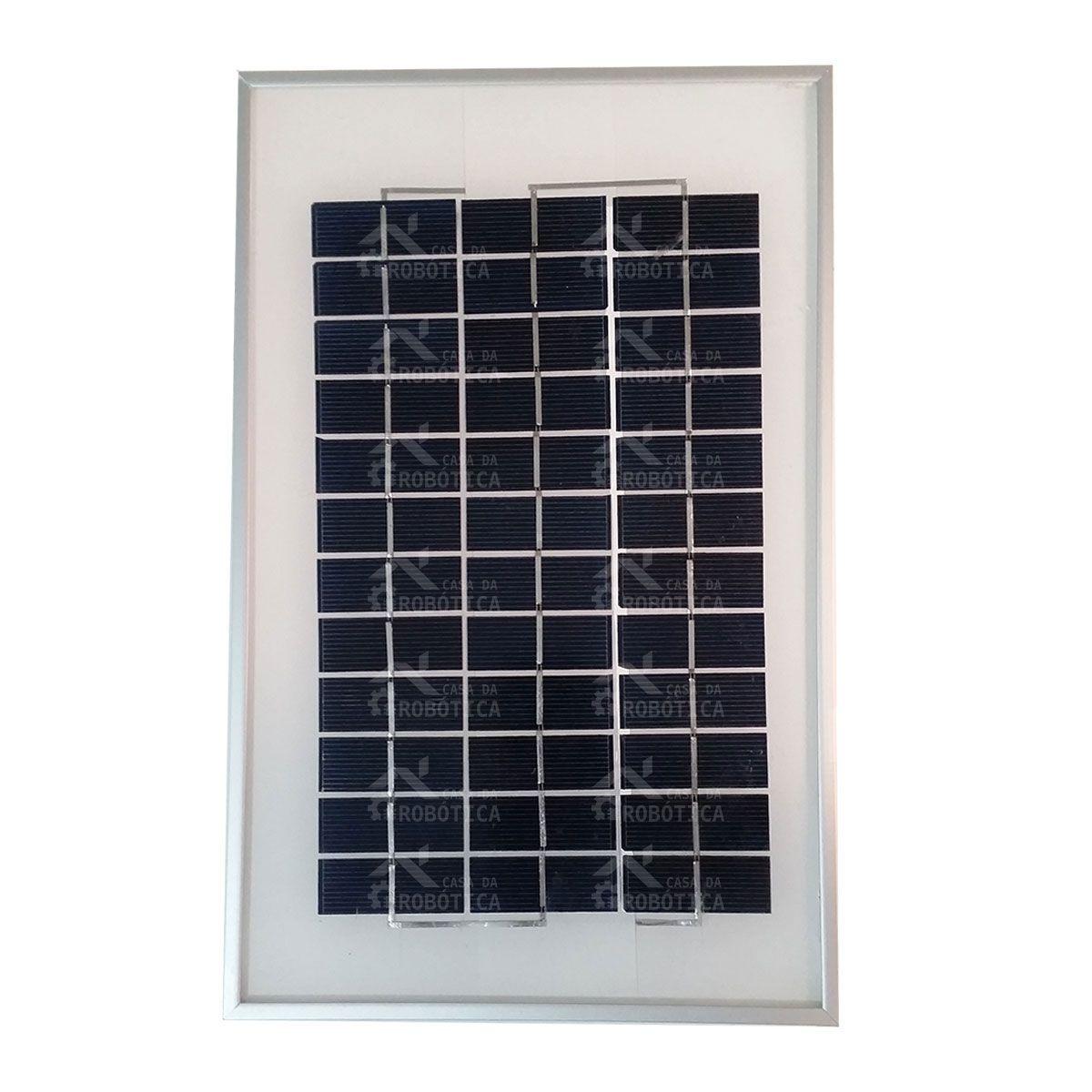 Painel / Placa / Célula de Energia Solar Fotovoltaica 5W