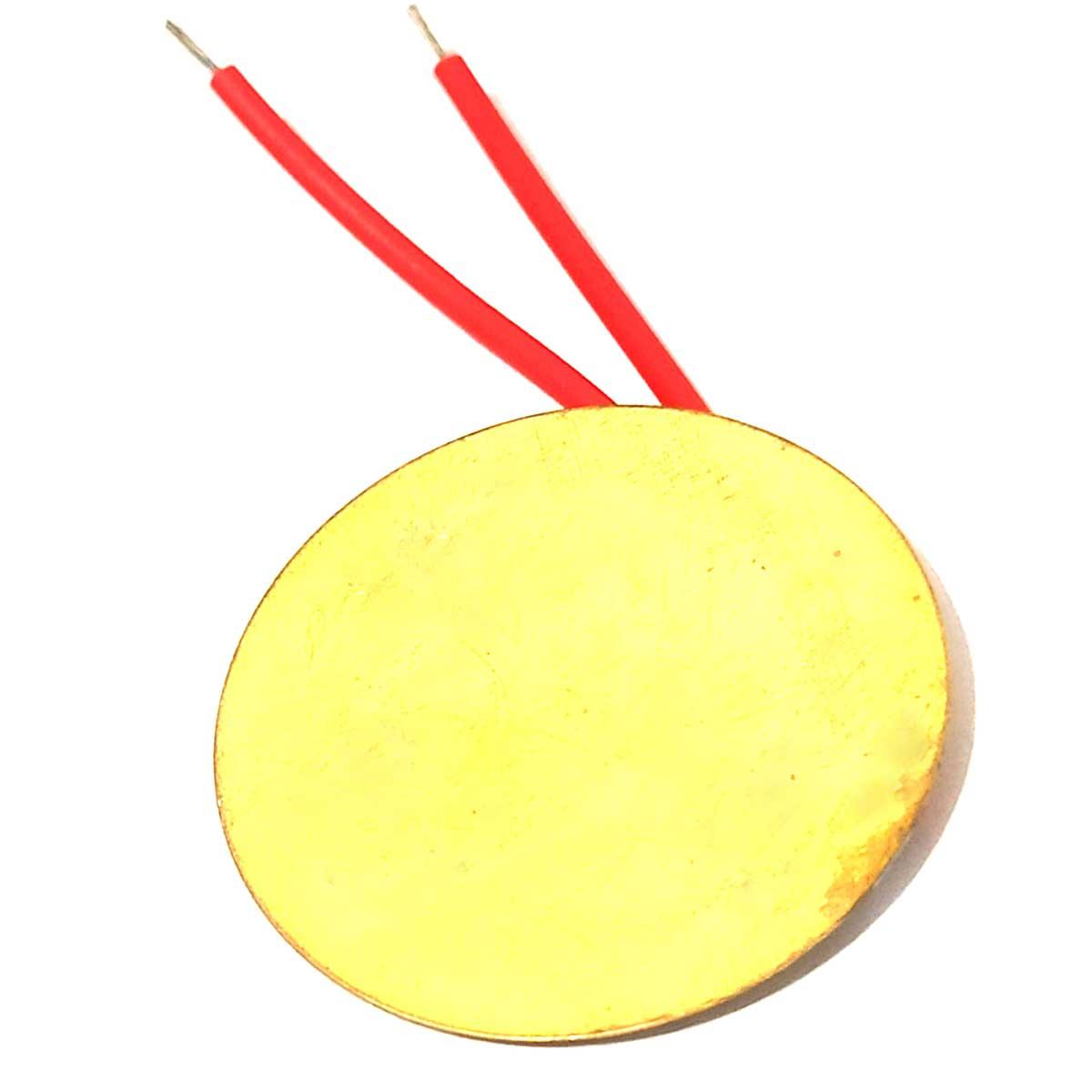 Pastilha Transdutor Piezo Elétrico 20mm Piezoeletrico