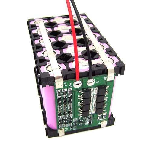 Placa / Carregador 3S 25A BMS para Baterias 18650 Li-ion Lithium + Voltímetro