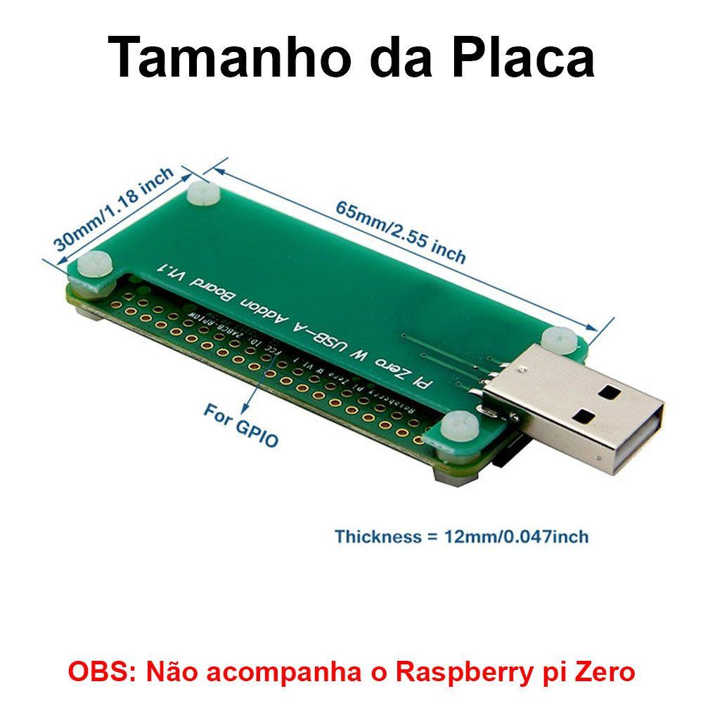 Placa de Expansão / Adaptador Usb Tipo A para  Raspberry Pi Zero / Zero W
