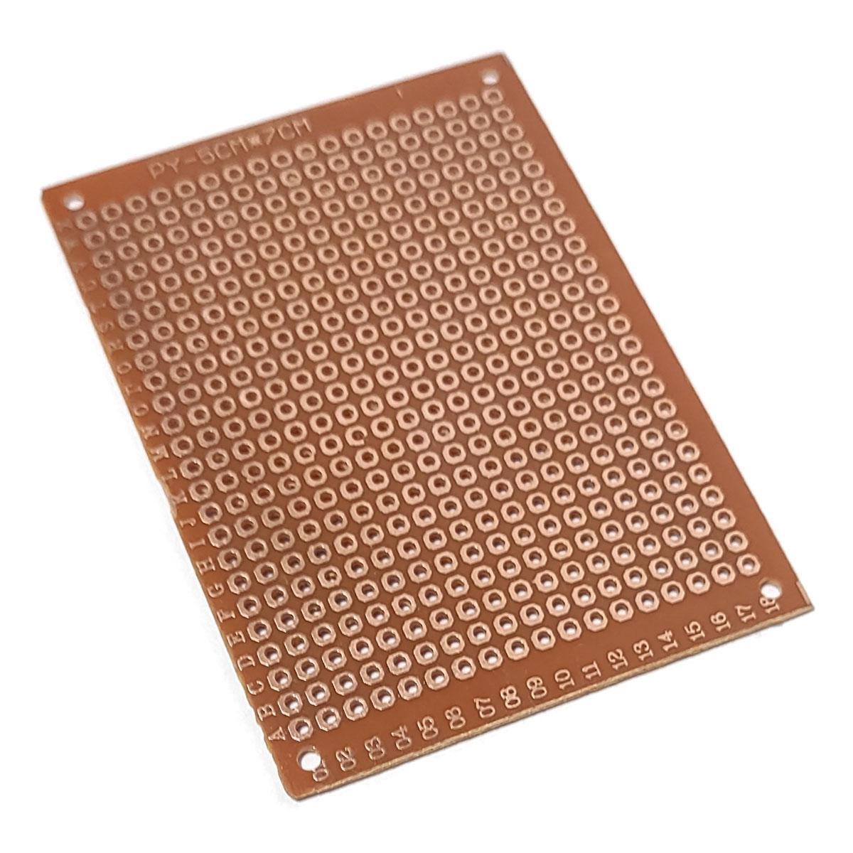 Placa de Fenolite Ilhada Perfurada 7x5 cm Circuito Impresso