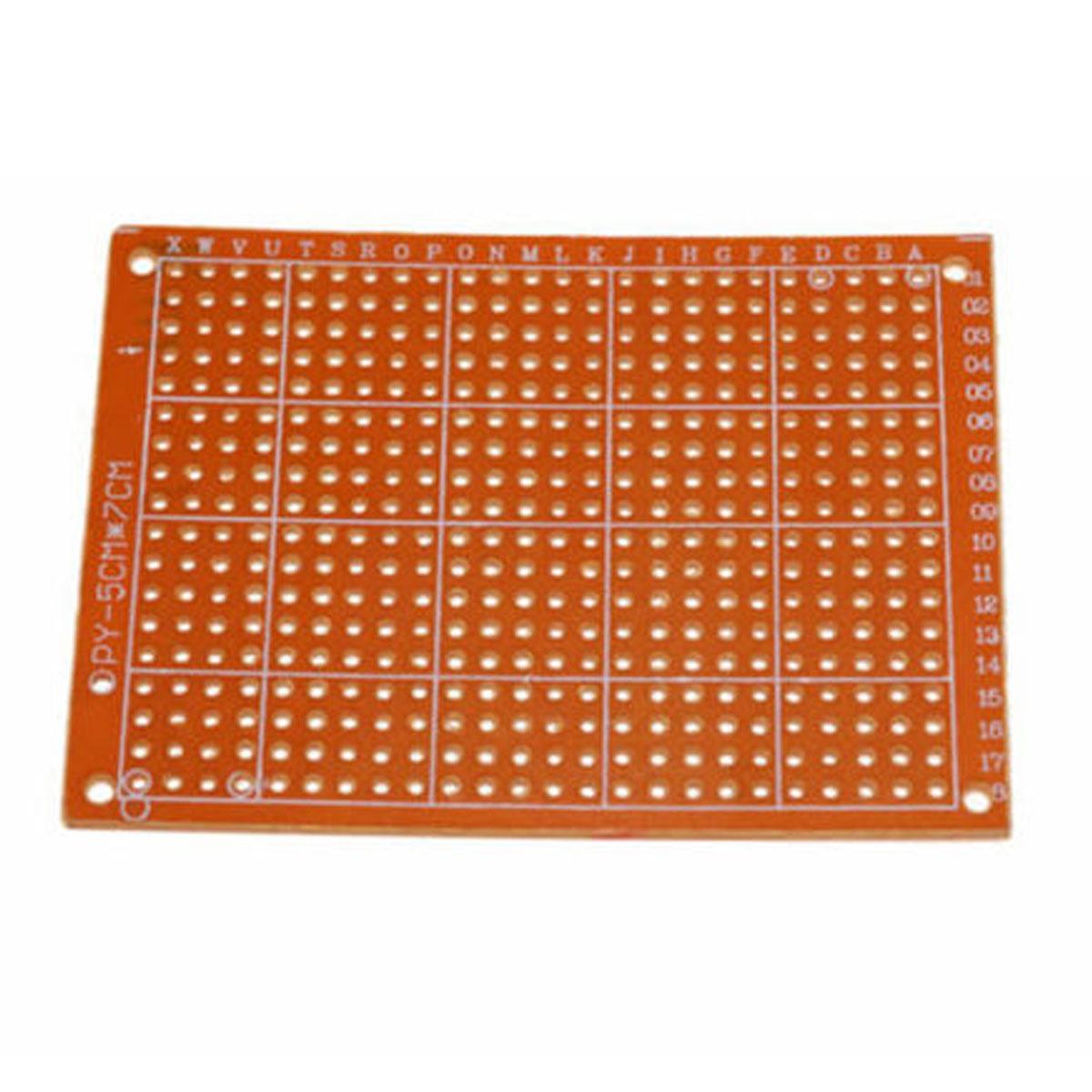 Placa de Fenolite Ilhada Perfurada 5x7 cm Circuito Impresso