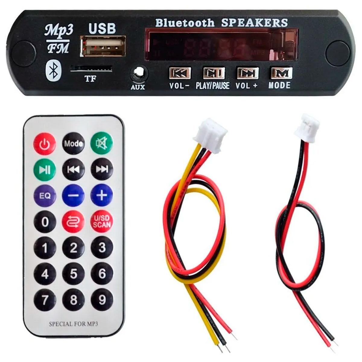 Placa Leitor Usb Bluetooth Fm / Mp3 / Bluetooth / Radio Fm