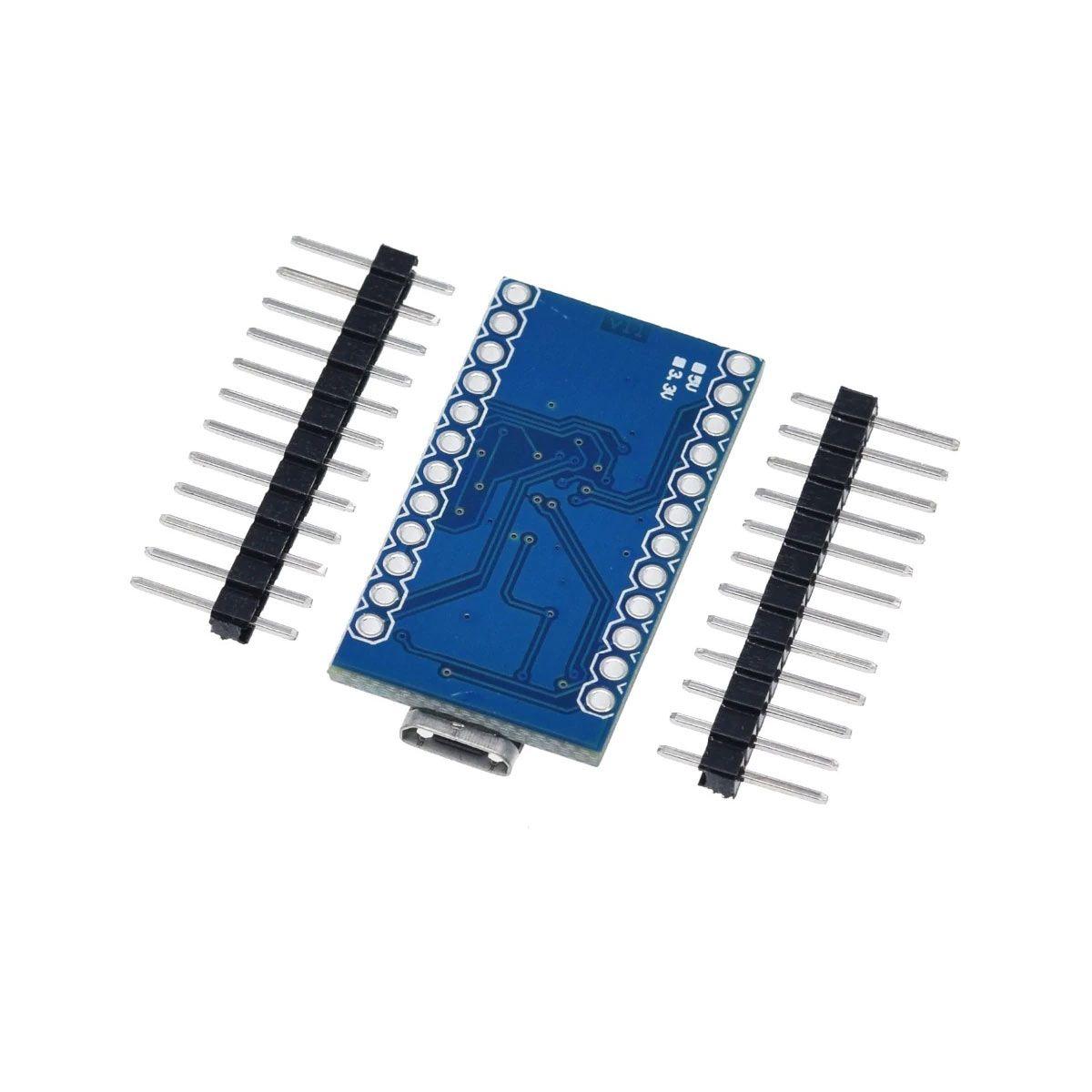 Placa Leonardo Pro Micro 5V sem Cabo e Compatível com Arduino IDE