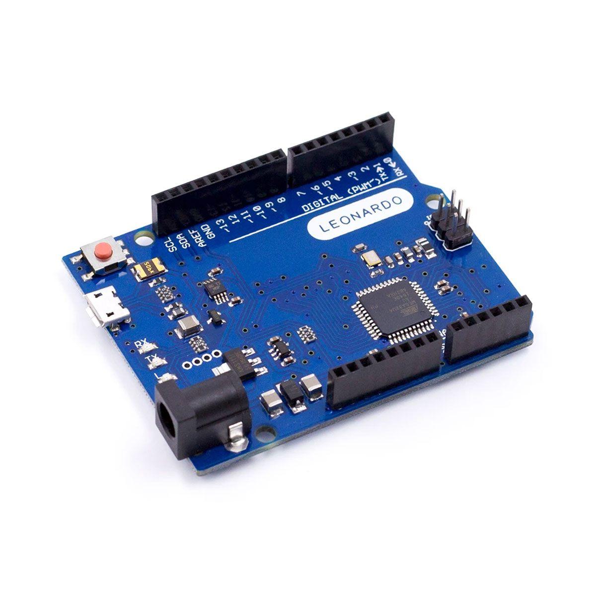 Placa Leonardo R3 Rev3 Atmega32u4 com Cabo Usb Compatível para Arduino