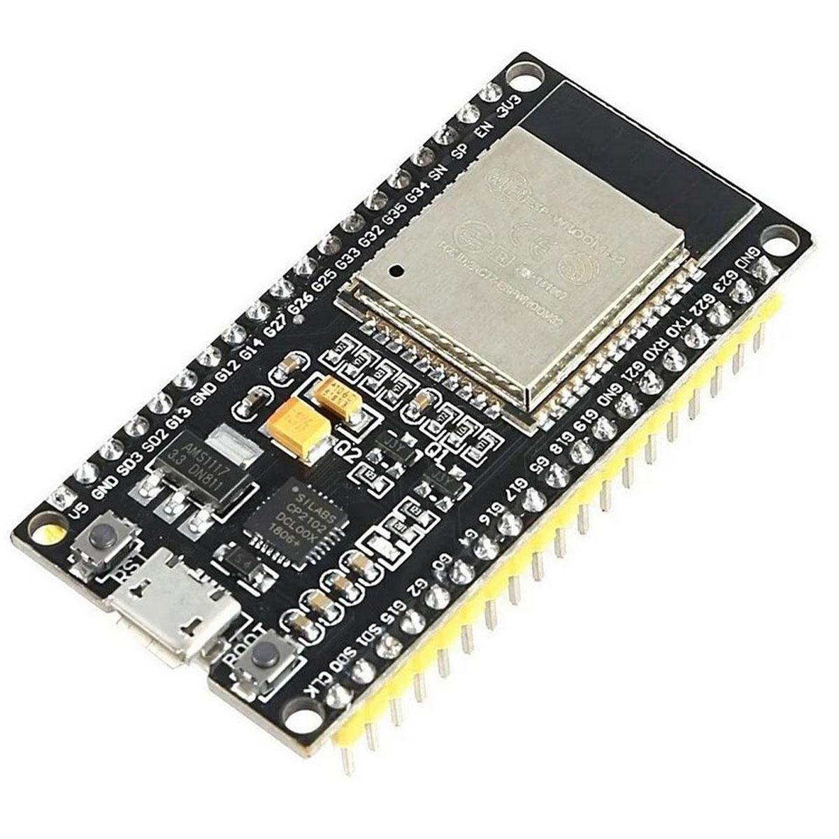 Placa NodeMCU ESP32S Iot com WiFi e Bluetooth - 38 Pinos