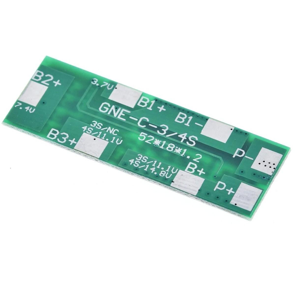 Placa para Carregar Baterias com Proteção Bms e Balanceamento 4S 8A